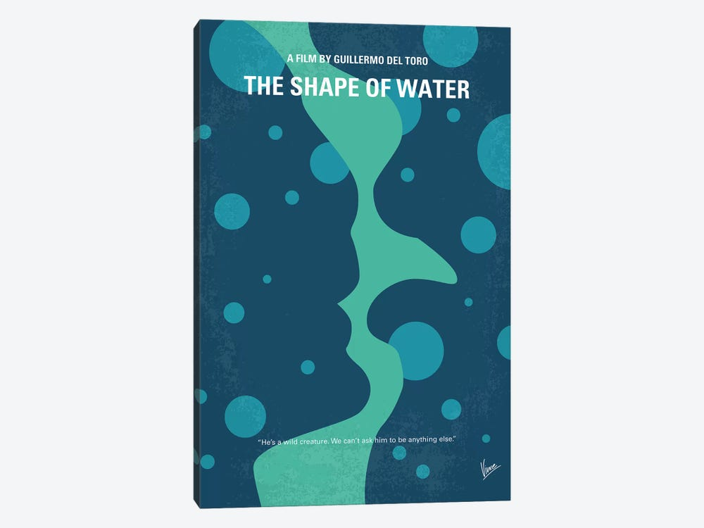 The Shape of Water Minimal Movie Poster by Chungkong 1-piece Canvas Print