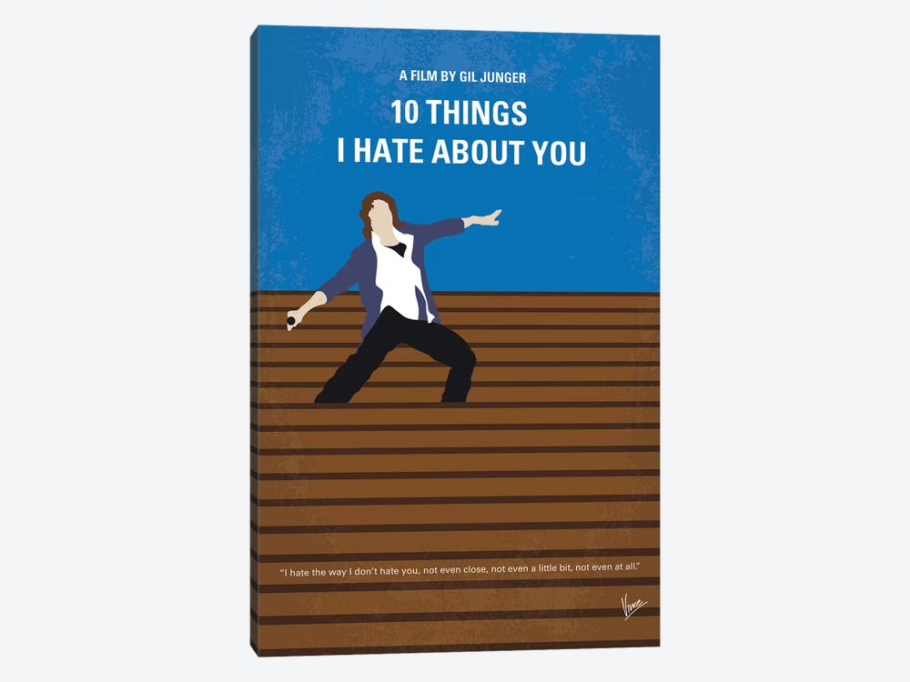 10 Things I Hate About You Minimal Movie Poster by Chungkong 1-piece Canvas Art Print