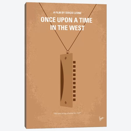 Once Upon A Time In The West Minimal Movie Poster Canvas Print #CKG76} by Chungkong Canvas Print