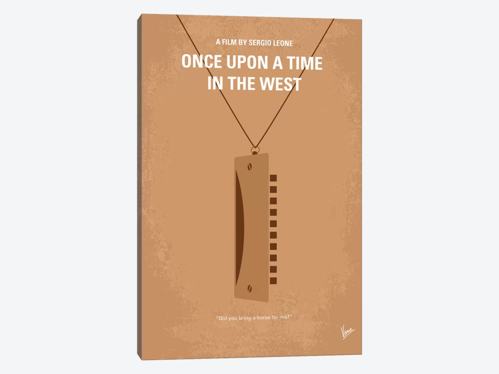 Once Upon A Time In The West Minimal Movie Poster by Chungkong 1-piece Canvas Artwork