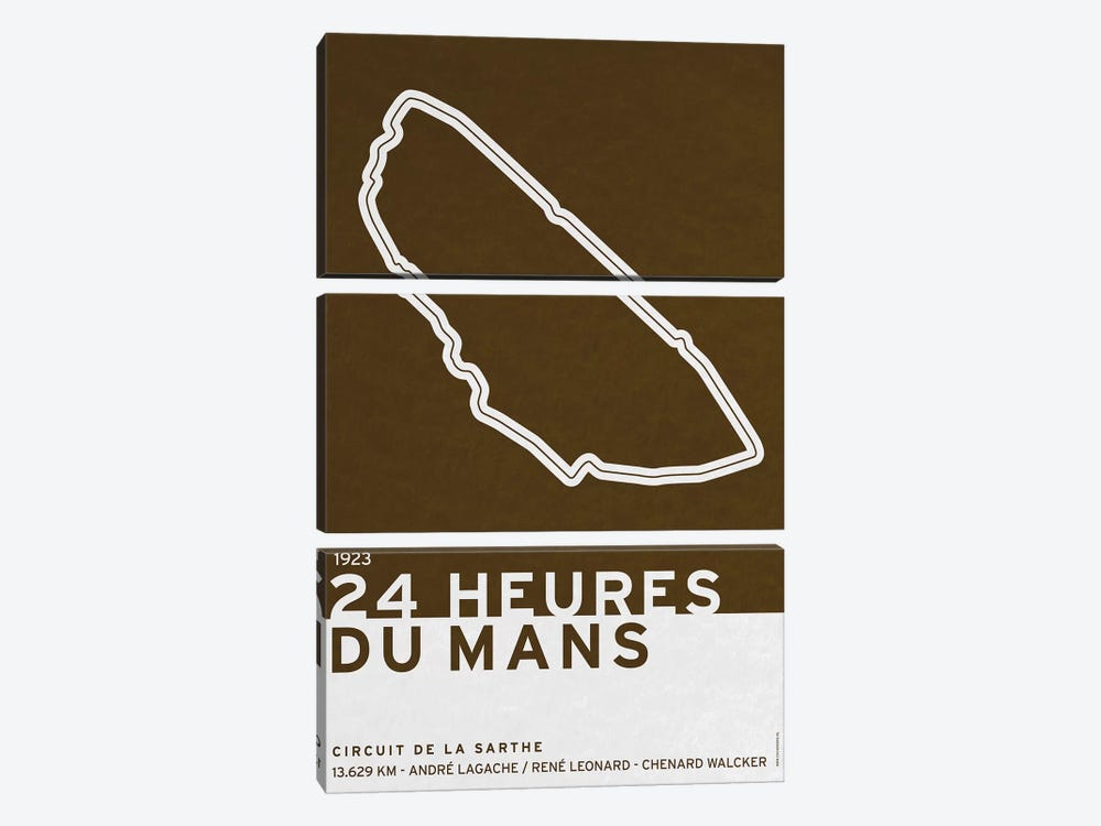 1923 24 Heures du Mans 3-piece Canvas Art Print