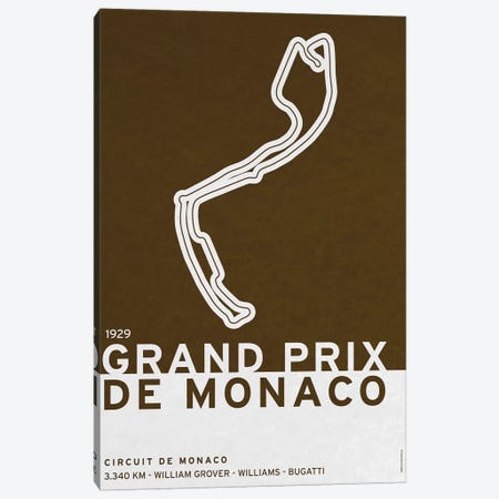 1929 Grand Prix de Monaco Canvas Print #CKG773} by Chungkong Art Print