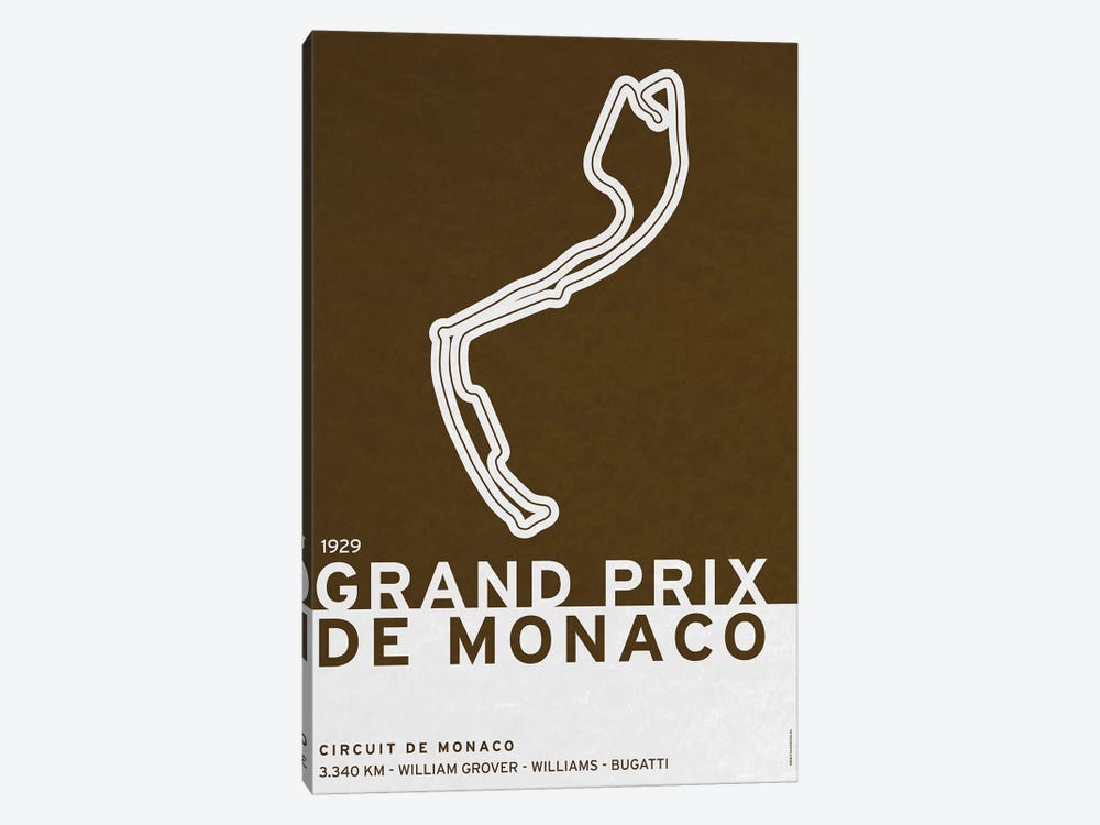 1929 Grand Prix de Monaco by Chungkong 1-piece Canvas Art