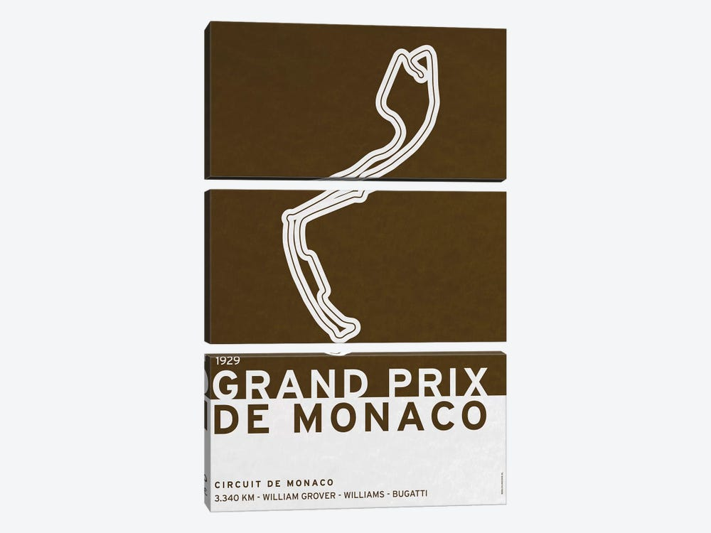 1929 Grand Prix de Monaco by Chungkong 3-piece Canvas Wall Art