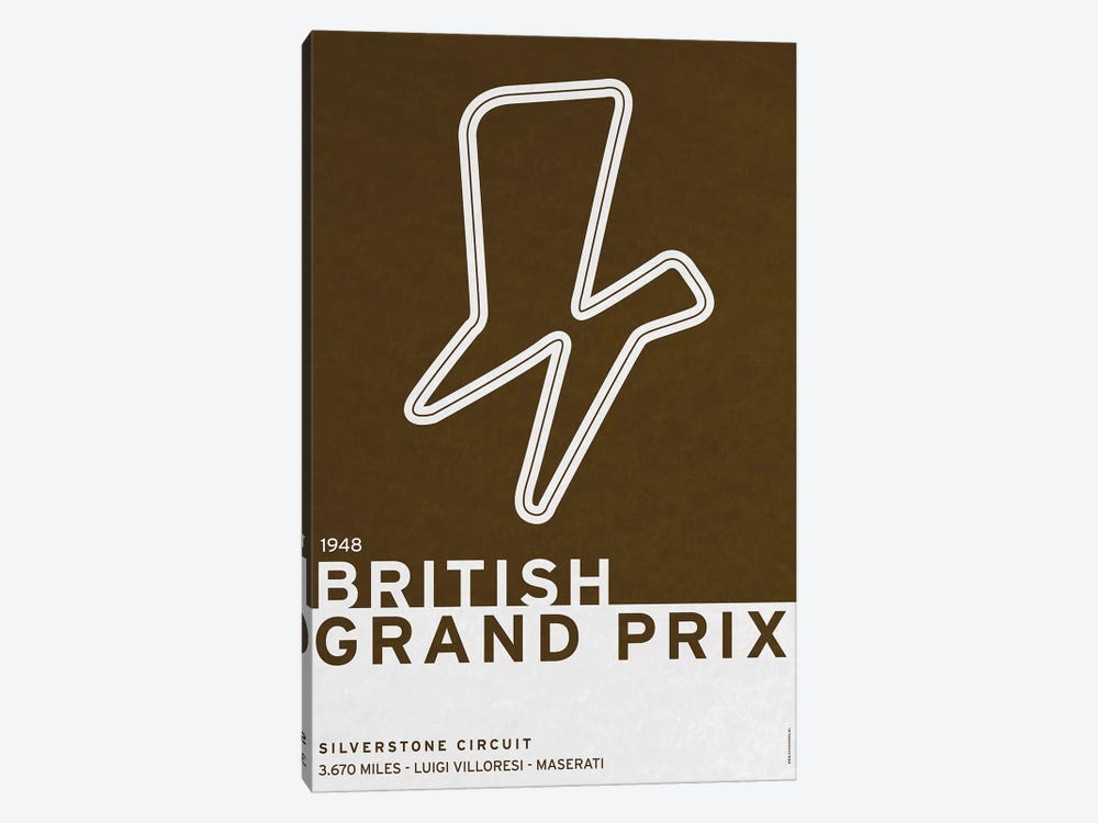 1948 British Grand Prix by Chungkong 1-piece Canvas Print