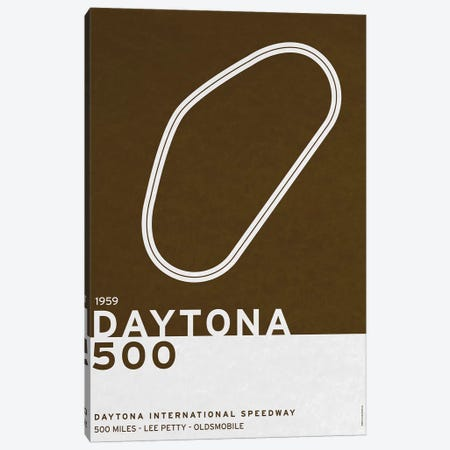 1959 Daytona 500 Canvas Print #CKG775} by Chungkong Canvas Artwork