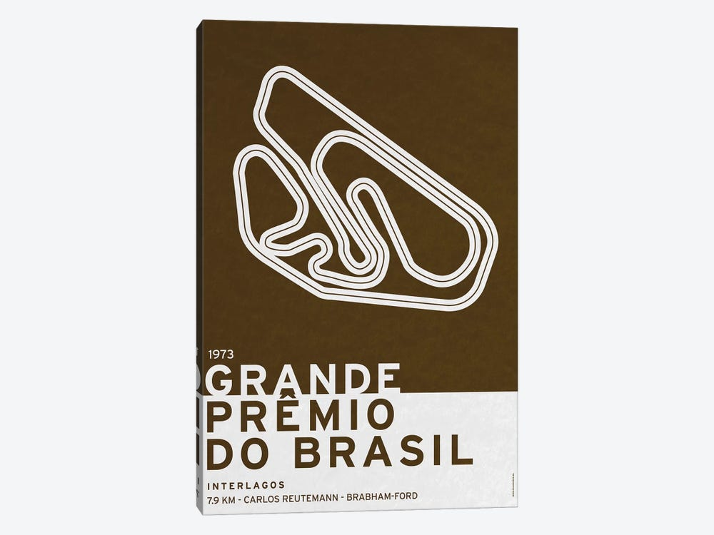1973 Grande Prêmio do Brasil by Chungkong 1-piece Canvas Art Print