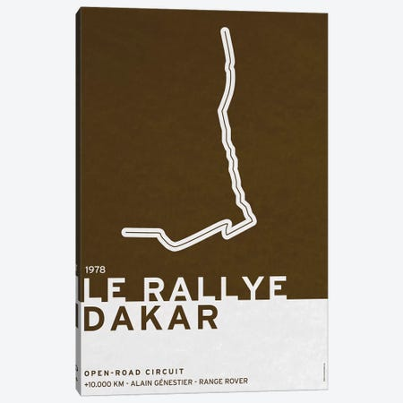 1978 Le Rallye Dakar Canvas Print #CKG777} by Chungkong Canvas Wall Art