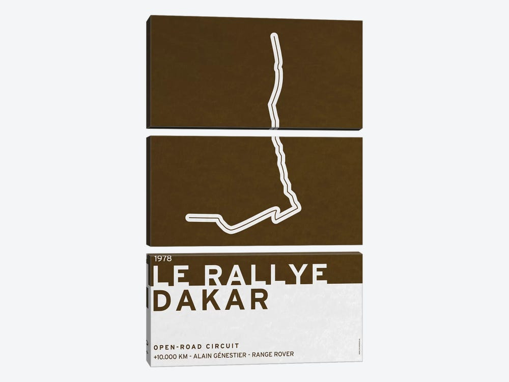 1978 Le Rallye Dakar by Chungkong 3-piece Canvas Art
