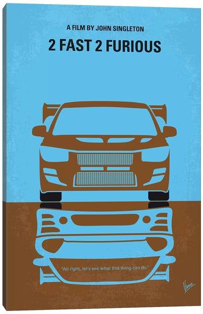 2 Fast 2 Furious Minimal Movie Poster Canvas Art Print