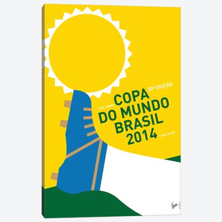 2014 World Cup Soccer Brazil Rio Minimal Poster Canvas Print #CKG779} by Chungkong Canvas Art Print