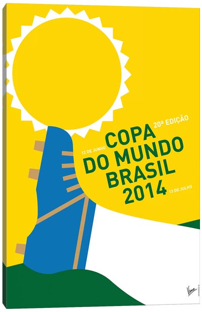 2014 World Cup Soccer Brazil Rio Minimal Poster Canvas Art Print
