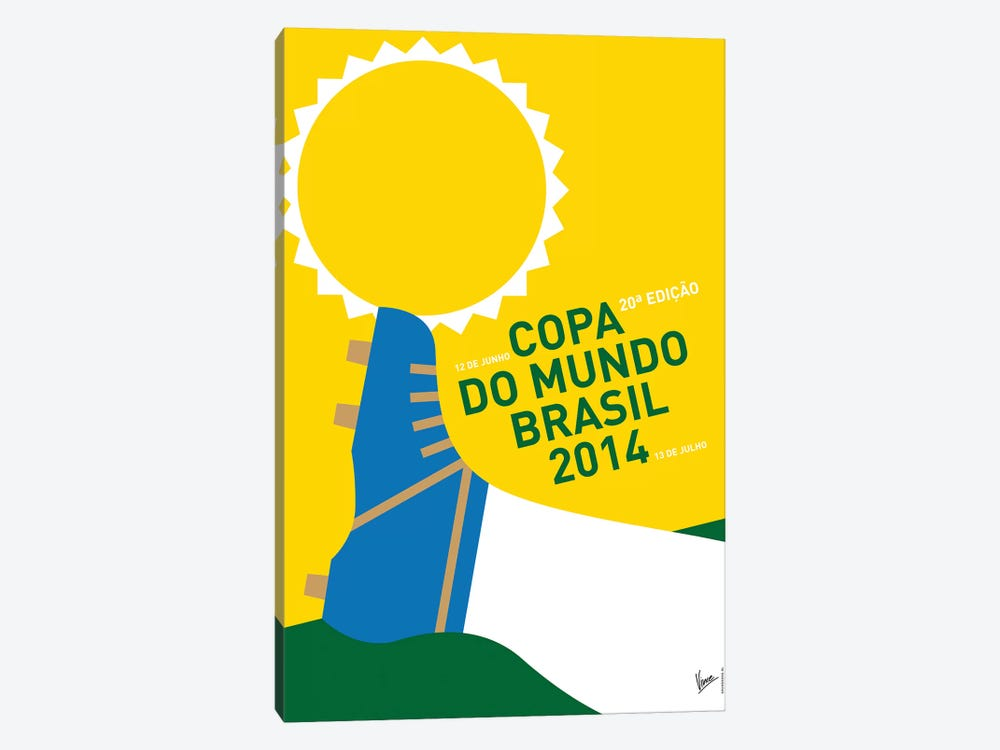 2014 World Cup Soccer Brazil Rio Minimal Poster by Chungkong 1-piece Canvas Art