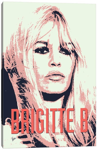 60's Diva Brigitte B. Canvas Art Print