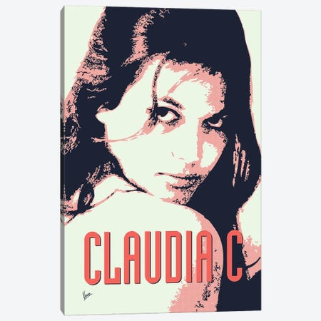 60's Diva Claudia C. Canvas Print #CKG781} by Chungkong Canvas Art