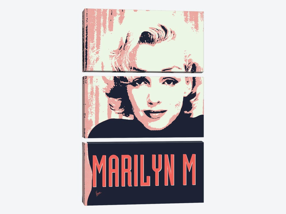 60's Diva Marilyn M. by Chungkong 3-piece Canvas Artwork