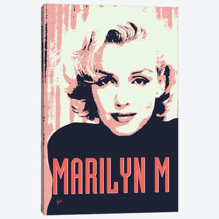 60's Diva Marilyn M. Canvas Print #CKG782} by Chungkong Canvas Wall Art
