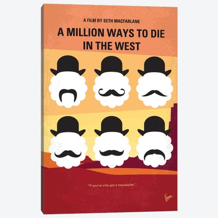 A Million Ways To Die In The West Minimal Movie Poster Canvas Print #CKG785} by Chungkong Canvas Print