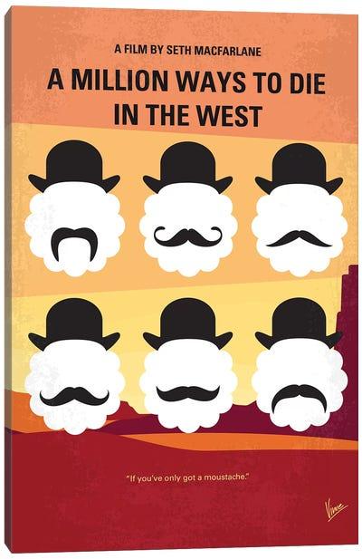 A Million Ways To Die In The West Minimal Movie Poster Canvas Art Print