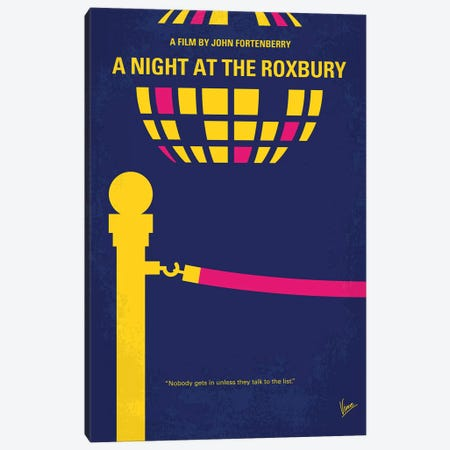 A Night At The Roxbury Minimal Movie Poster Canvas Print #CKG786} by Chungkong Canvas Art Print