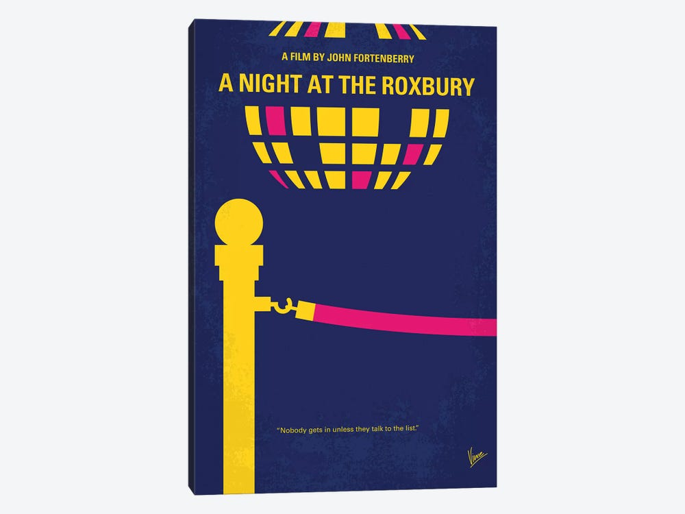 A Night At The Roxbury Minimal Movie Poster by Chungkong 1-piece Canvas Art