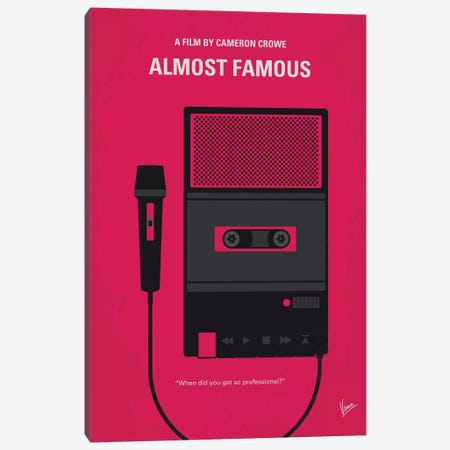 Almost Famous Minimal Movie Poster Canvas Print #CKG787} by Chungkong Art Print