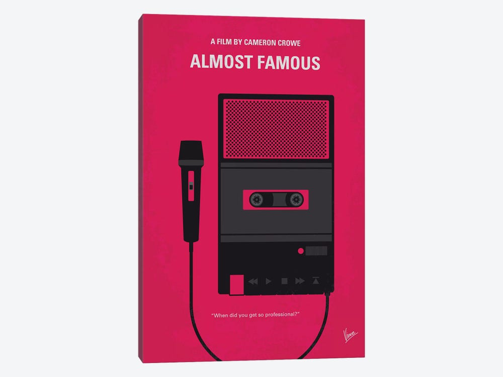 Almost Famous Minimal Movie Poster by Chungkong 1-piece Canvas Art Print