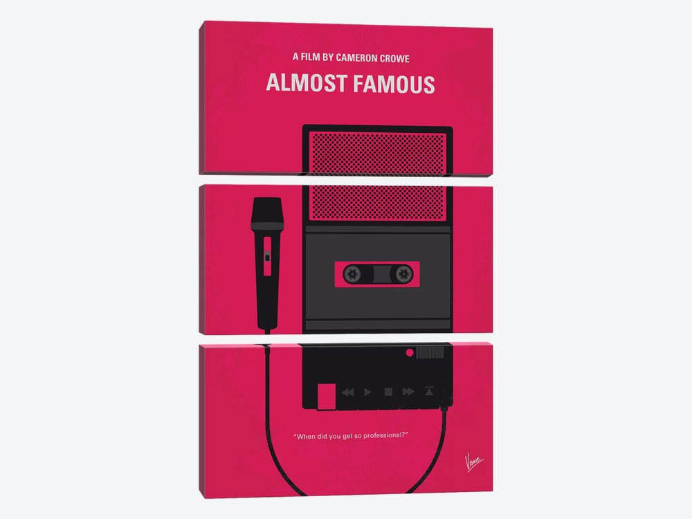Almost Famous Minimal Movie Poster by Chungkong 3-piece Canvas Print