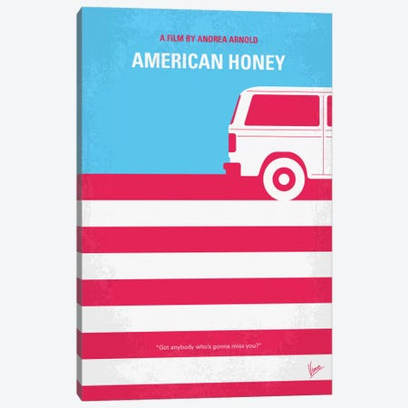 American Honey Minimal Movie Poster Canvas Print #CKG788} by Chungkong Canvas Artwork