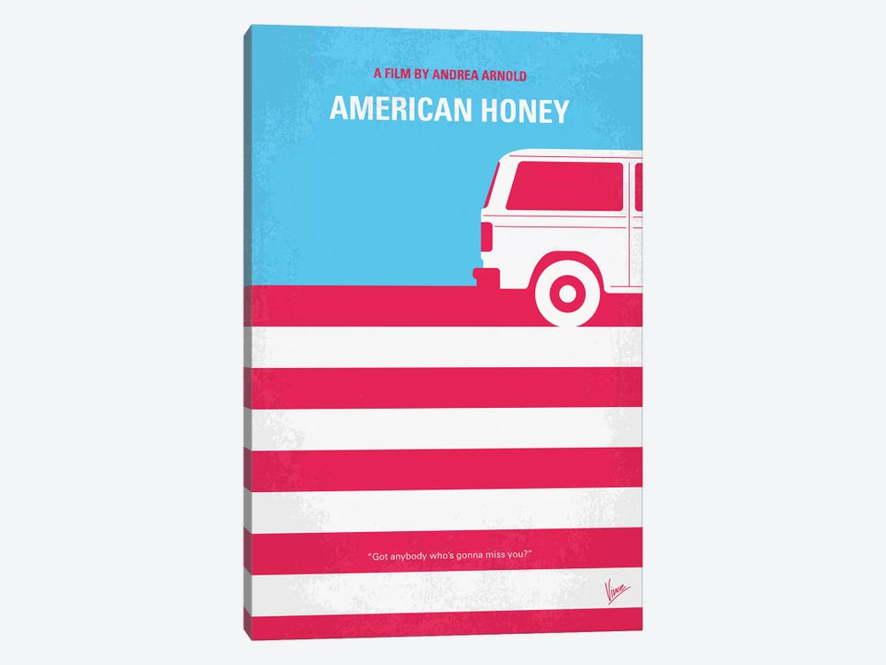 American Honey Minimal Movie Poster by Chungkong 1-piece Canvas Artwork