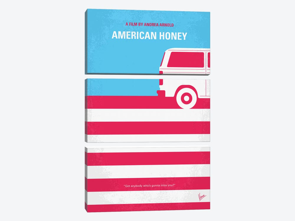 American Honey Minimal Movie Poster by Chungkong 3-piece Canvas Artwork