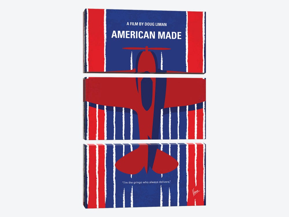 American Made Minimal Movie Poster 3-piece Art Print