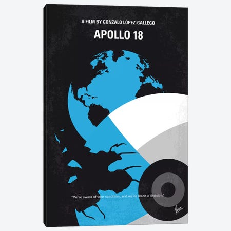 Apollo 18 Minimal Movie Poster Canvas Print #CKG792} by Chungkong Canvas Art Print