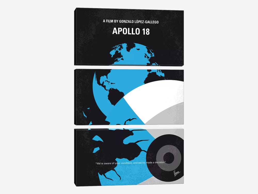 Apollo 18 Minimal Movie Poster 3-piece Canvas Print