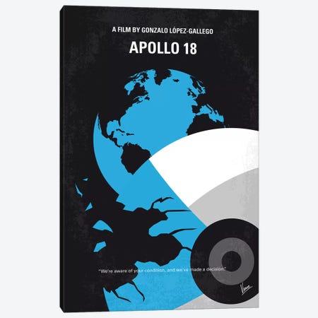 Apollo 18 Minimal Movie Poster Canvas Print #CKG792} by Chungkong Canvas Art Print