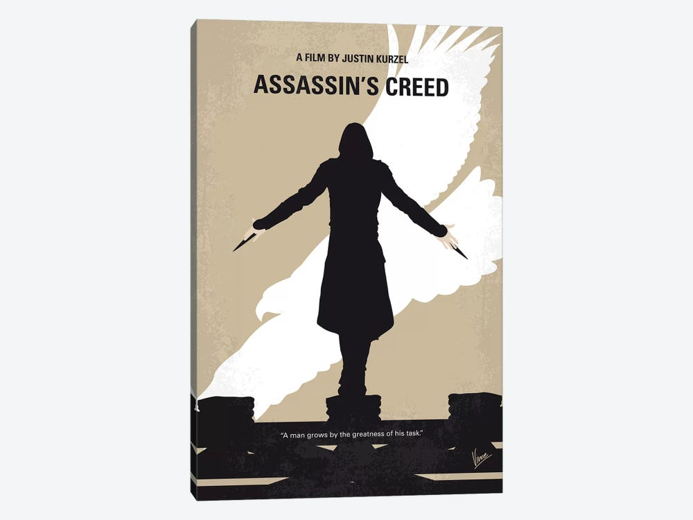 Assassins Creed Minimal Movie Poster by Chungkong 1-piece Canvas Art