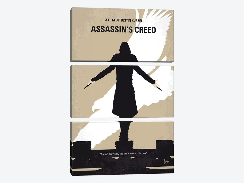 Assassins Creed Minimal Movie Poster by Chungkong 3-piece Canvas Artwork