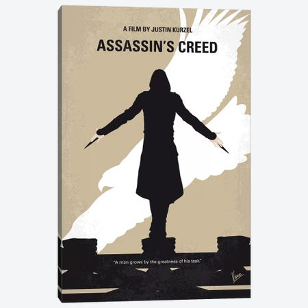 Assassins Creed Minimal Movie Poster Canvas Print #CKG793} by Chungkong Canvas Print