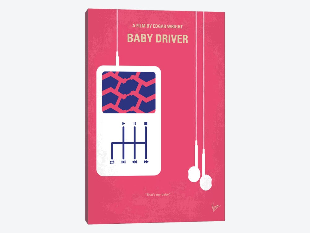 Baby Driver Minimal Movie Poster by Chungkong 1-piece Art Print