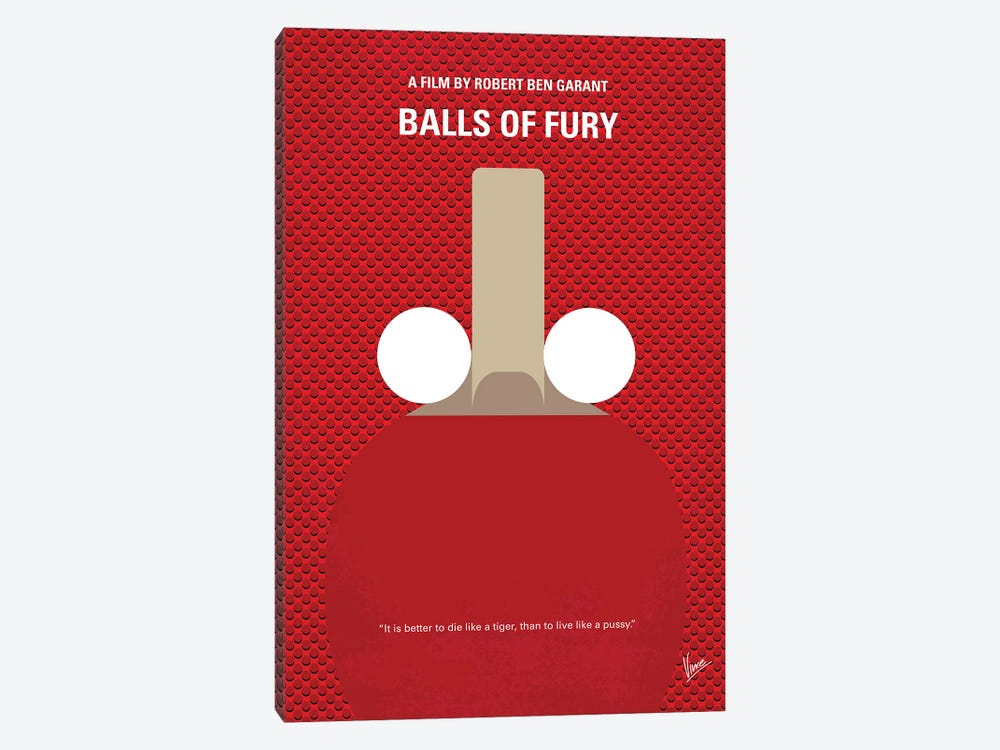 Balls Of Fury Minimal Movie Poster by Chungkong 1-piece Art Print