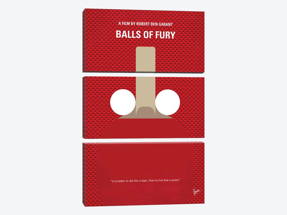 Balls Of Fury Minimal Movie Poster by Chungkong 3-piece Art Print