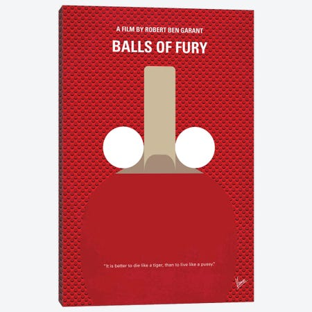 Balls Of Fury Minimal Movie Poster Canvas Print #CKG796} by Chungkong Canvas Art