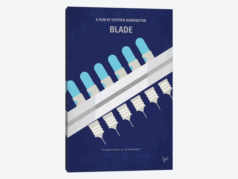 Blade Minimal Movie Poster by Chungkong 1-piece Canvas Art