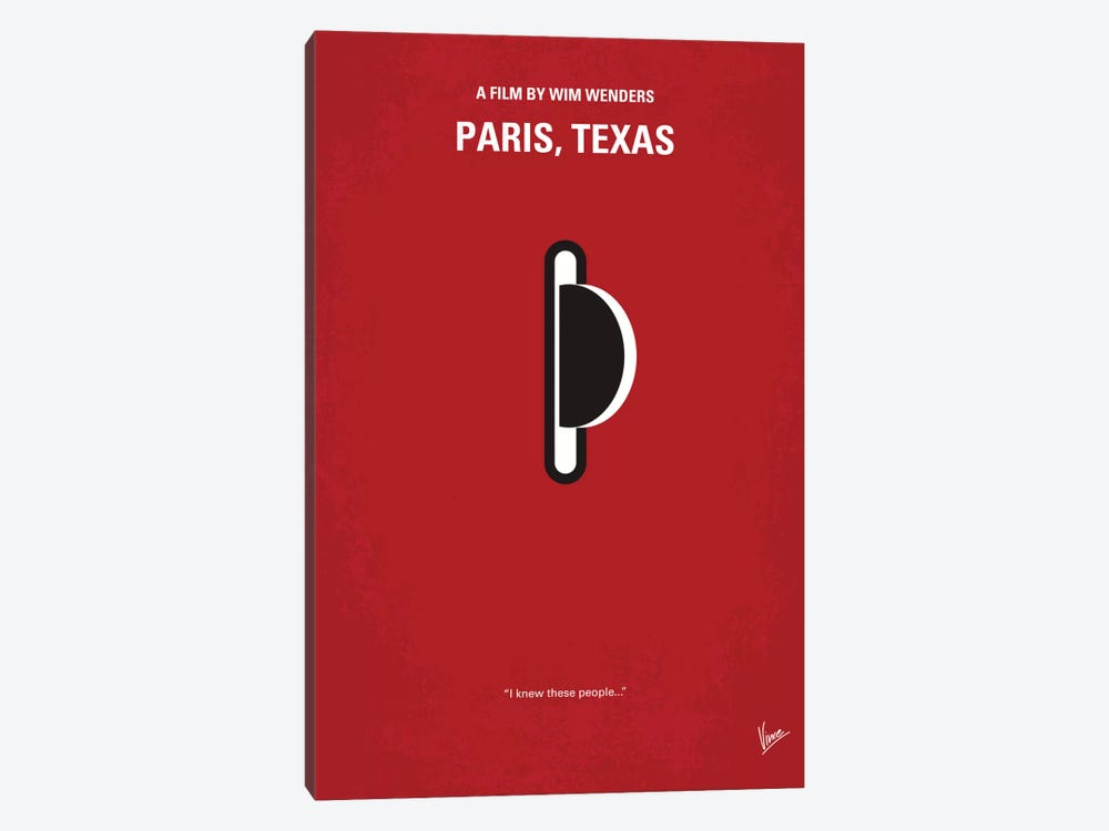 Paris, Texas Minimal Movie Poster by Chungkong 1-piece Art Print