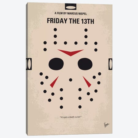 Friday The 13th Minimal Movie Poster Canvas Print #CKG7} by Chungkong Canvas Artwork