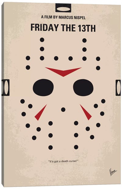Friday The 13th Minimal Movie Poster Canvas Art Print