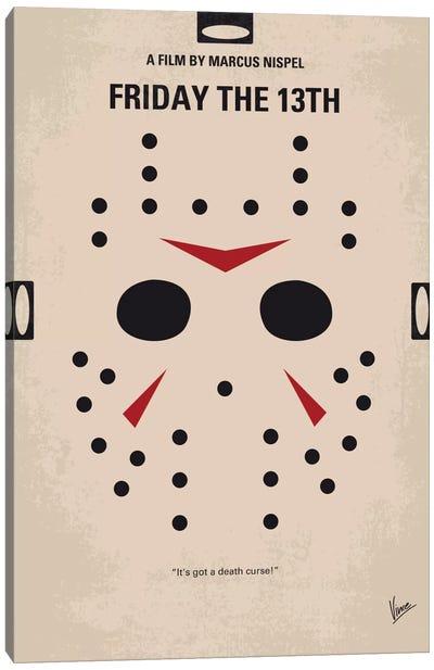 Friday The 13th Minimal Movie Poster Canvas Art Print