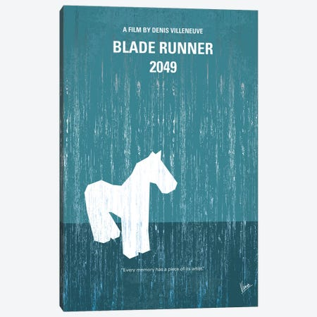 Blade Runner 2049 Minimal Movie Poster Canvas Print #CKG800} by Chungkong Canvas Art Print