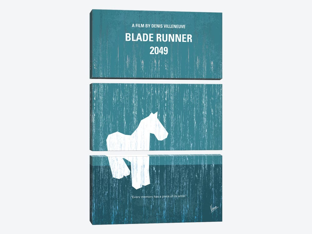Blade Runner 2049 Minimal Movie Poster by Chungkong 3-piece Canvas Artwork