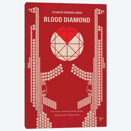 Blood Diamond Minimal Movie Poster Canvas Print #CKG801} by Chungkong Canvas Print